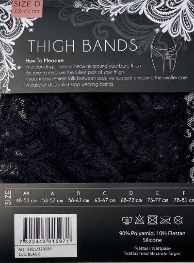 Lårband i svart fin spets