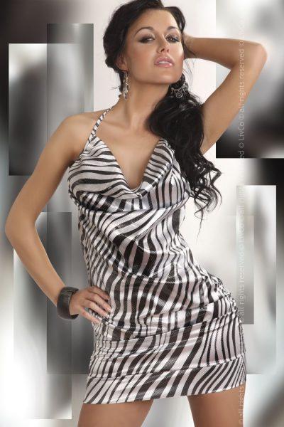 Snygg kort klänning med fin lyster