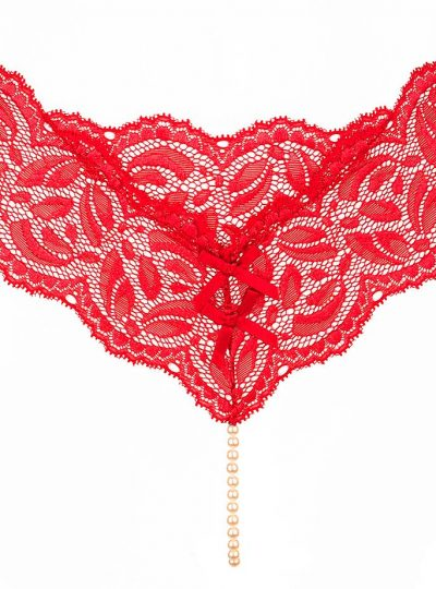 Bracli classic röd stringtrosa