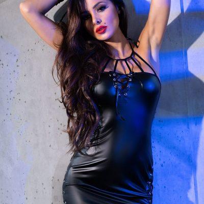 wetlook klänning