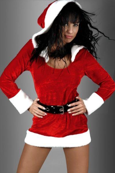 Julklänning med huva