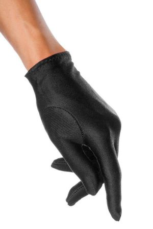 svart kort handske