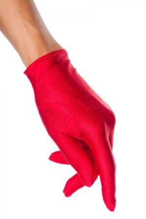 röd kort handske