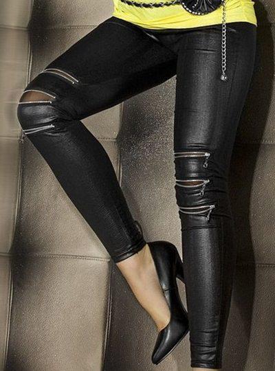 Svarta leggings med tuffa detaljer
