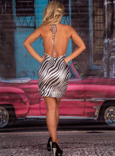 eliora kort klänning från livco corsetti bakifrån