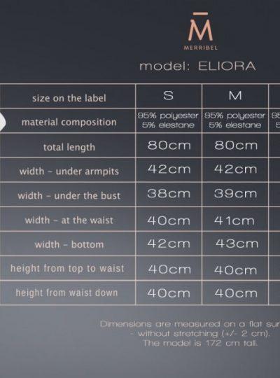 storlekstabell för eliora kort klänning från livco corsetti