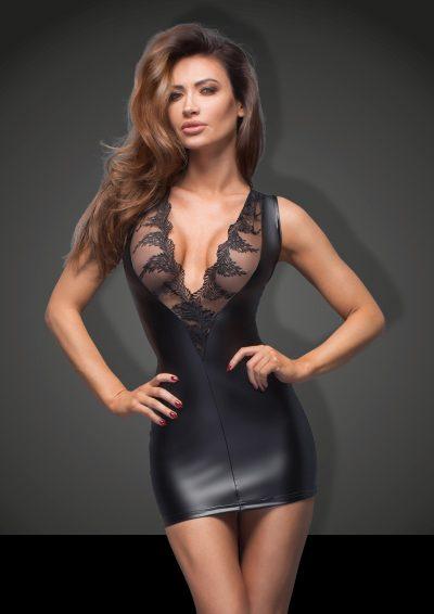 Kort klänning i wetlook